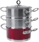 Morphy Richards 18 cm 3-Tier Steamer - Red