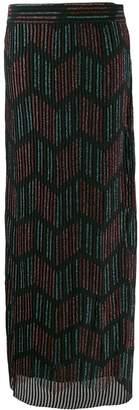M Missoni glitter effect zigzag skirt