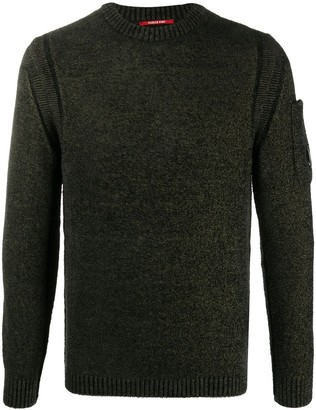 C.P. Company Logo-Lens Knitted Jumper