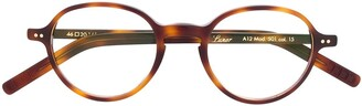 Lunor Round-Frame Tortoiseshell Glasses