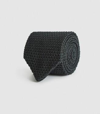 Reiss Jackson - Silk Knitted Tie in Emerald