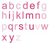Wall Candy Arts Ombre Alphabet Wall Decal in Fuchsia (Set of 26)