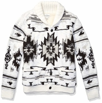 Lucky Brand Men's Southwestern Sherpa Lined Shawl Cardigan Sweater