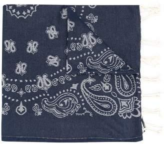 MC2 Saint Barth Foutas bandana-jacquard scarf