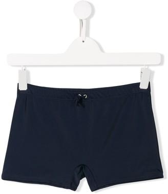 Diesel back logo print swim shorts