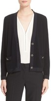 The Kooples Women's Grosgrain Trim Wool & Cashmere Cardigan