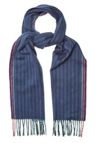 Paul Smith Striped wool and cashmere-blend scarf