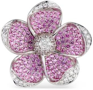 Ri Noor Sakura Pink Sapphire & Diamond Ring