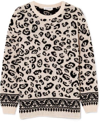 Altuzarra Casablanca Merino Wool-blend Jacquard Sweater - Beige
