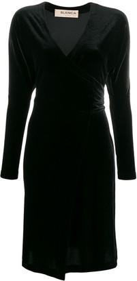 Blanca Vita Short Velvet Wrap Dress