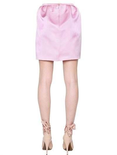 Double Face Silk Gabardine Mini Skirt