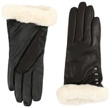 UGG Art Deco Stud Smart Gloves w/ Short Pile Trim