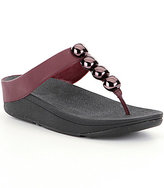 FitFlop Rola Leather Ornamental Detail Thong Style Slip On Sandals