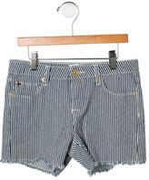 Hudson Girls' Striped Distressed Shorts