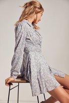 Kimchi & Blue Kimchi Blue Sabrina Floral Long-Sleeve Mini Shirt Dress