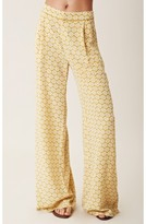 harlyn Silk Piped Wide Leg Trouser