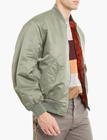 Yves Salomon Khaki Nylon Fur-lined Bomber Jacket