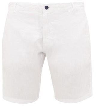 Vilebrequin Slubbed Linen-poplin Bermuda Shorts - White