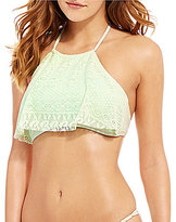 GB Crochet High Neck Flutter Top