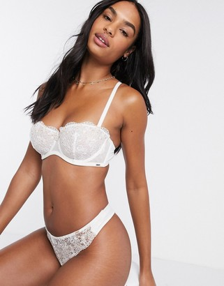Dorina Kalina recycled embroidered thong in ivory