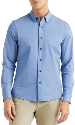 Rhone Commuter Herringbone Button-Up Dress Shirt
