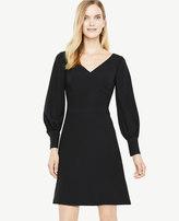 Ann Taylor Lantern Sleeve Flare Dress
