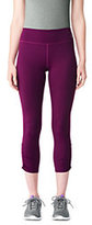 Lands' End Women's Active Workout Crop Leggings-Emerald Jewel
