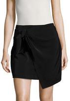 Design Lab Lord & Taylor Knit Mock-Wrap Skirt