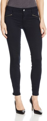 Level 99 Women's Riley Skinny Moto Jean with Ankle Zippers