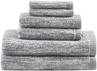Madison Home USA Signature Melange Turkish Cotton Jacquard 6-piece Bath Towel Set