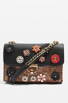Oriana floral corsage cross body bag