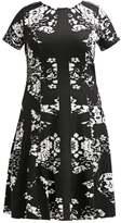 ELOQUII Jersey dress black/white combo