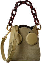 Yuzefi Pepper Chain Handle Leather & Suede Bucket Bag
