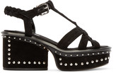 Marc Jacobs Black Suede Studded Sandals