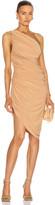 Norma Kamali Diana Mini Dress in Nude   FWRD