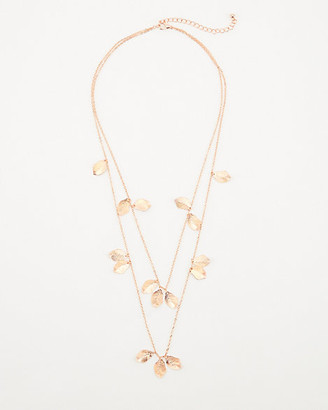 Le Château Multi-Strand Leaf Necklace
