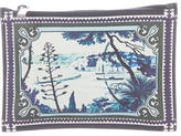 Mary Katrantzou Printed Leather Pouch