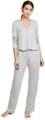 Eberjey Women's Maya Long Sleeve Jumpsuit