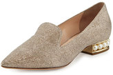 Nicholas Kirkwood Casati Pearly Suede Loafer, Champagne