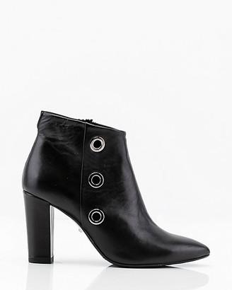 Le Château Italian-Made Leather Rivet Ankle Boot