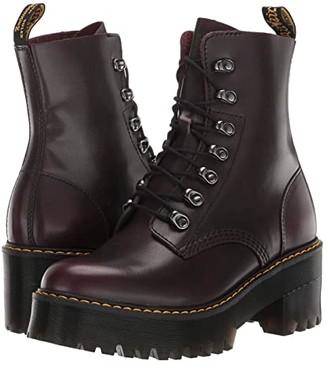 Dr. Martens Leona (Burgundy Vintage) Women's Boots