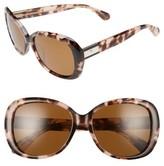 Kate Spade Women's Judyann 50Mm Sunglasses - Black/ Ivory