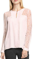 Vince Camuto Long Sleeve Lace Trimmed Blouse