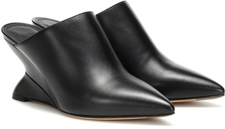 Salvatore Ferragamo F Wedge leather mules