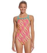 Speedo Flipturns Women's Rave Heart Propel Back One Piece Swimsuit 8155575