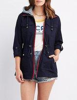 Charlotte Russe Convertible Hood Anorak Jacket