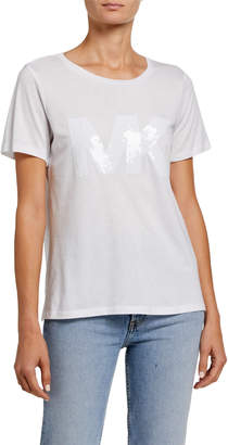 MICHAEL Michael Kors Sequin Logo Short Sleeve T-Shirt