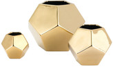 Global Views Faceted Vase, Gold, Small