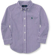 Ralph Lauren Striped Cotton Poplin Sport Shirt, Size 2-7