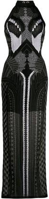 Balmain Jacquard Pattern Knitted Dress